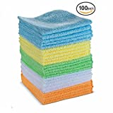: Microfiber Cleaning Towel Set By BloominGoods - Multipurpose & Reusable Cleaning Cloth - Perfect For Your Home, Office, Car & All Other Cleaning Needs (100)