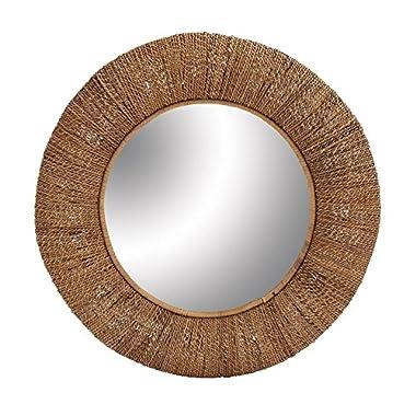Deco 79 38444 Wood Rattan Mirror, 36