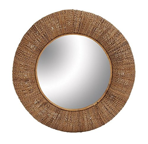 Deco 79 38444 Wood Rattan Mirror, 36'' by Deco 79