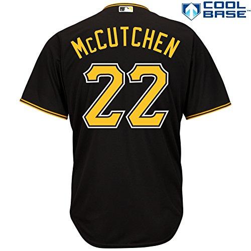 Andrew McCutchen Pittsburgh Pirates #22 MLB Men's Cool Base Alternate Jersey Black (5XL)