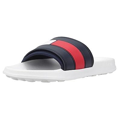 434f582d3a89b Amazon.com  Tommy Hilfiger Men s Slider Flip Flops
