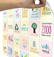 mcSquares Stickies 4x4 Bright Dry-Erase Sticky Notes | 24-Pack Assorted Colors Reusable White Board Stickers w