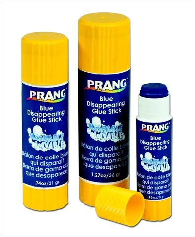 Prang 026055 Non-Toxic Odorless Washable Glue Stick44; 1.27 Oz44; Blue and Dries Clear
