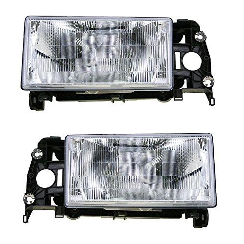 Headlights Headlamps Pair Set Left LH & Right RH for Volvo 740 940 ()