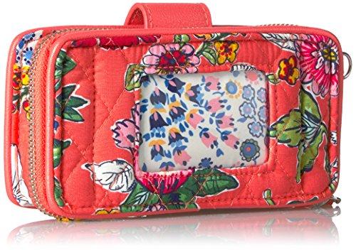 Rfid Signature Vera Coral Bradley Floral Wristlet Smartphone Cotton 6wOa7zxPq