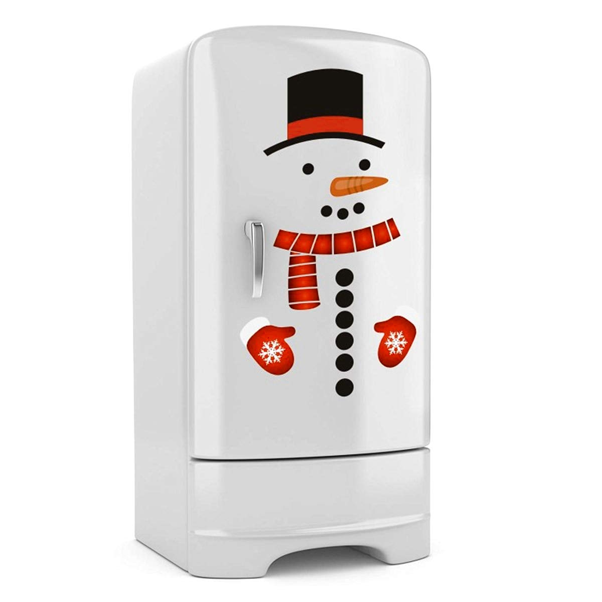 Wen XinRong Christmas Decorations Cute Snowman Refrigerator Stickers Fridge Wall Stickers Holiday Christmas Decorations for Fridge, Metal Door, Windows, Garage, Office Cabinets
