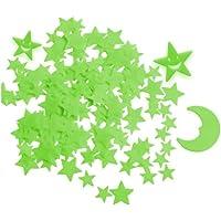 Zueyen 212pcs Glow in the Dark Stars-stickers voor plafond, zelfklevende 3D-gloeiende sterren en maan voor kinderen…