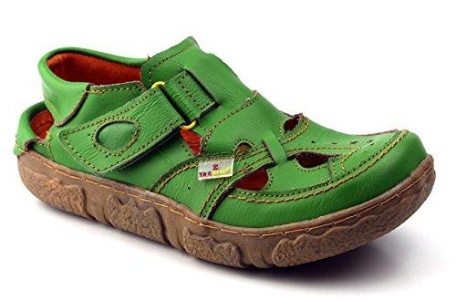 TMA Eyes Leder Sandalette Damenschuhe Sandalen 7088 Grün