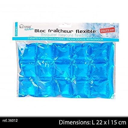 Générique Bloque frío Flexible 15 Cubos para Nevera portátil X 6 ...