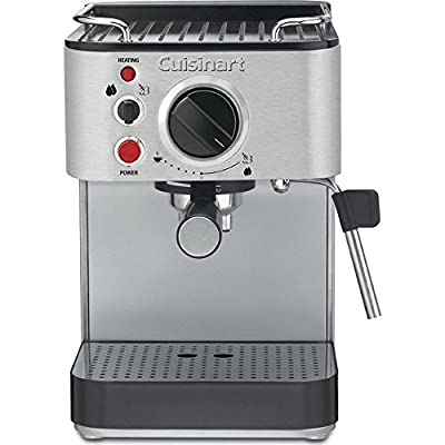 Cuisinart EM-100 1000-Watt 15-Bar Espresso Maker, Stainless Steel (Certified Refurbished)