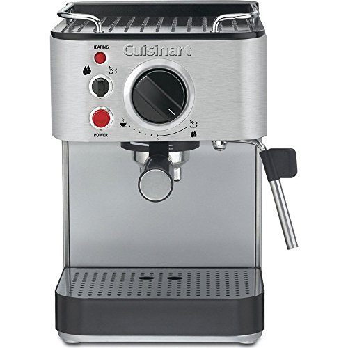 Cuisinart EM-100 1000-Watt 15-Bar Espresso Maker, Stainless Steel (Certified Refurbished)