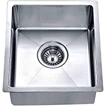 Dawn BS121307 Undermount Single Bowl Bar Sink, Polished Satin