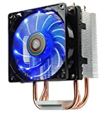Enermax ETS-N30 ll Compact Intel/AMD Blue LED Fan CPU Cooler with Direct Heat Pipes, ETS-N30R-TAA
