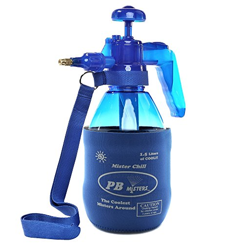 - PB Misters Chill Personal Pump Mister with Pressure Relief Handle, Blue