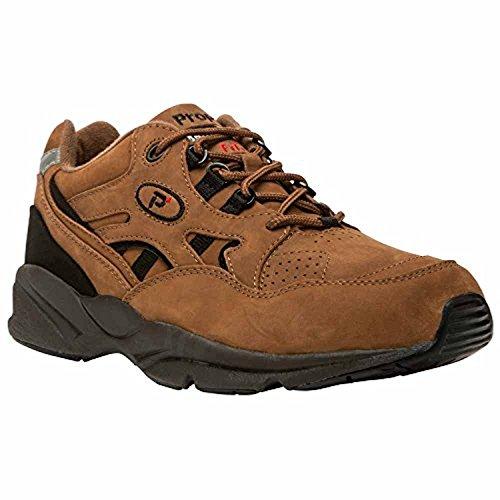 Propet Hombres Stability Walker Zapato Choco / Black Nubuck 8.5 X (3e) & Cleaner