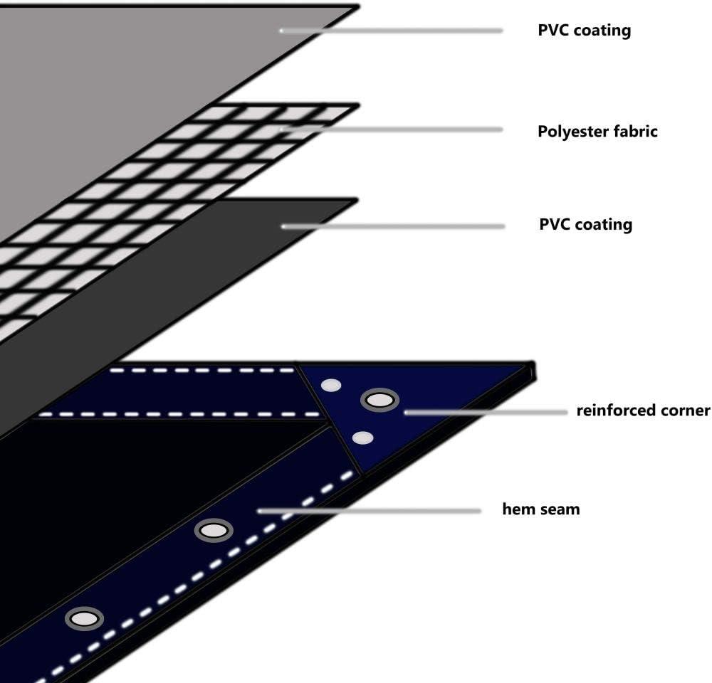 Festnight Plane Abdeckplane Leinen PVC-Beschichtung 650 g//m/² 3x3 m Wei/ß