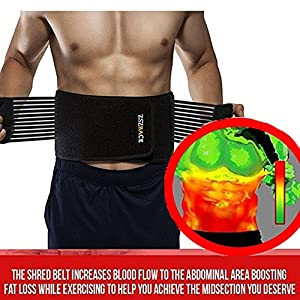 Thermogenic Waist Trimmer Belt, Belly Fat Burner, Weight Loss, Spot Reduction Belt, Waist Slimmer (L/XL)