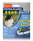 Hartz UltraGuard Water Resistant Plus Flea & Tick Collar for Cats and Kittens - 7 Month Protection