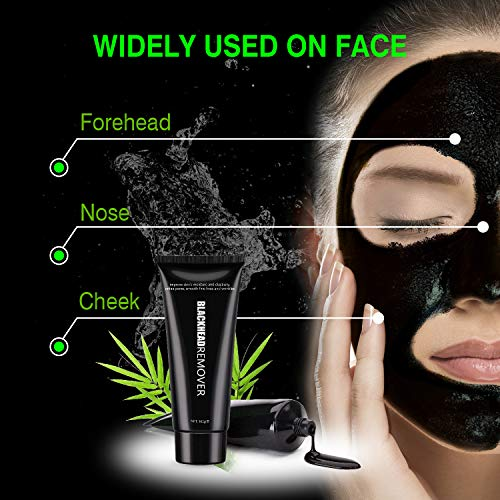 Amazon Black Mask Charcoal Peel Off Face Pore Cleaning Blackhead Remover For ManWoman With Brush 100g Beauty