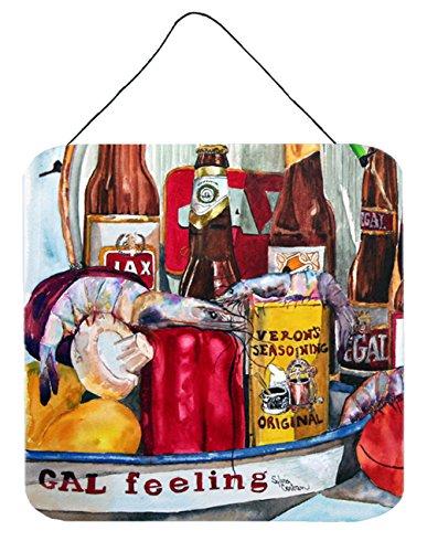 Caroline's Treasures Vernon's and New Orleans Beers Aluminum Metal Wall or Door Hanging Prints, 6 x 6, Multicolor