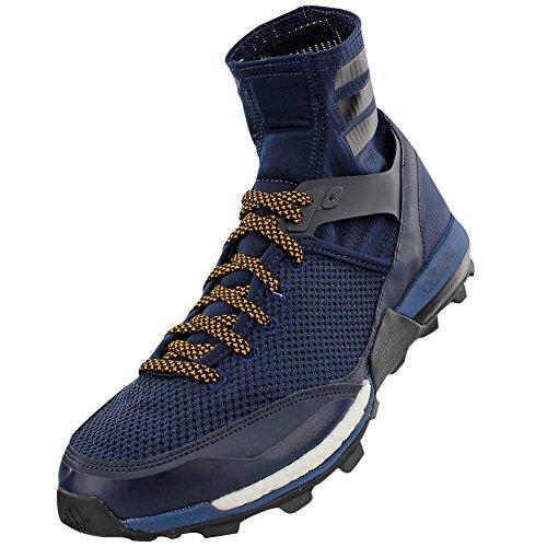 Adidas Outdoor Adizero XT 5 Boost Trail Running Shoe - Mens-Navy/Black/Gold-Medium-8.5 Adidas Adizero Xt Trail Shoe