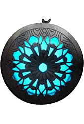 Steampunk Fairy Magical Fairy Glow in the Dark Necklace-Aqua large locket