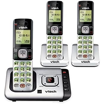Vtech 3 Handset Cordless Phone Answering System with Caller-ID and Call-Waiting