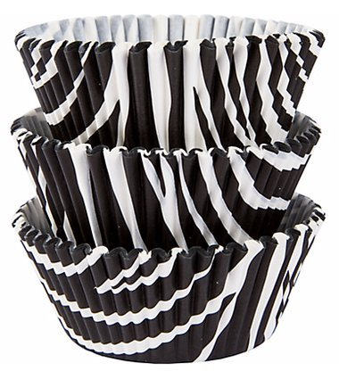 50 PC Animal Print (Zebra) Cupcake Wrappers - Custom Wrapper and Liners from - Print Shower Zebra