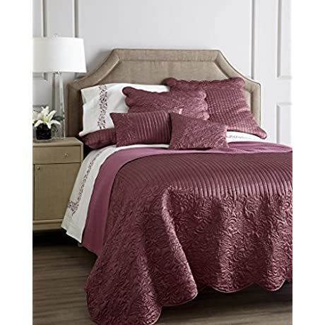 San Severo By Sferra Renee 10 Piece King Quilt Set And Sheet Collection Raspberry