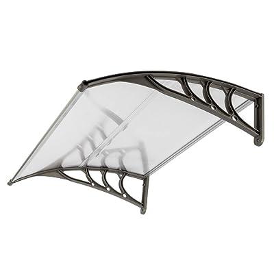 "HomVent 39.37"" x 31.5"" Window Door Awning,Polycarbonate Cover Front Door Outdoor Patio Canopy Sun Shetter,UV,Rain Snow Protection Hollow Sheet: Garden & Outdoor"