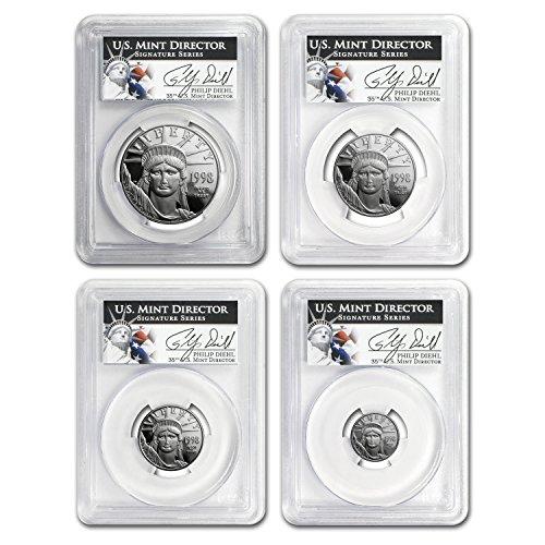 (1998 W 4-Coin Proof Platinum American Eagle Set PR-69 PCGS PR-69)
