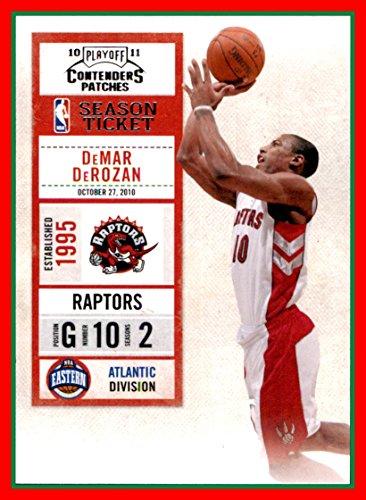 - 2010-11 Playoff Contenders Patches #65 DeMar DeRozan toronto raptors (87d)