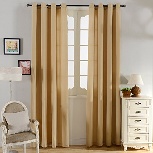 Top Finel Semi Sheer Curtain Grommets