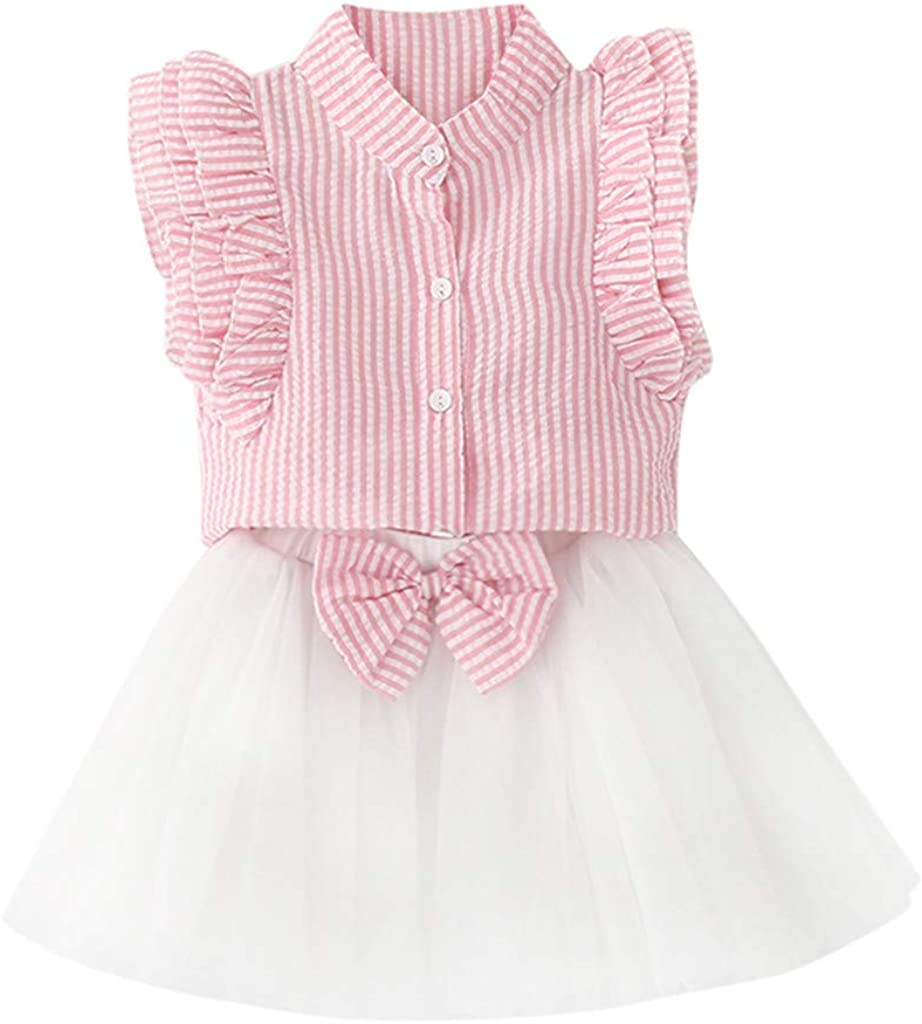 LNGRY Newborn Infant Baby Girls Princess Bowknot Lace Dress+Shorts Outfits Set