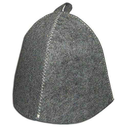 RussianBear Gray Wool Mixture Hat for Sauna Banya Bath House Head Protection Unisex (1)