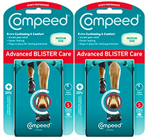 Compeed Sports Performance Blister Cushions, Medium, Package of 5 Cushions (2 Count)