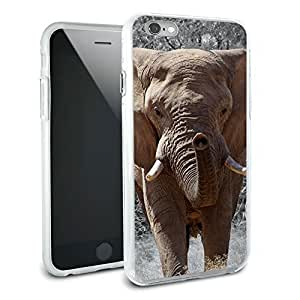 Africa African Elephant Protective Slim Hybrid Rubber Bumper Case for Apple iphone 4s