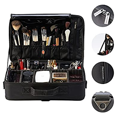 PASSHION Professional Portable Makeup Train Bag / Makeup Train Case / Travel Cosmetic Bag and Organizer