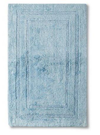 Fieldcrest Luxury Egyptian Cotton Bath Rugs (25u0026quot; X 40u0026quot;)  (Windswept Blue