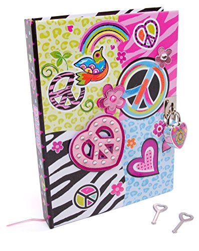 "Hot Focus Peace Secret Diary with Lock – 7"" Journal Notebook"