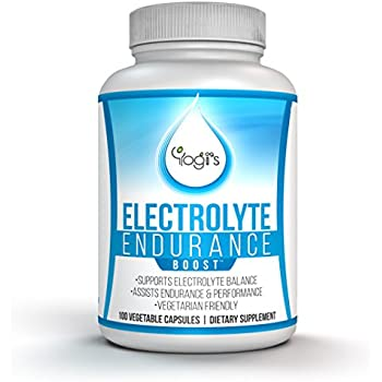Yogi's Electrolyte Capsules- Endurance Endurolyte Supplement-Electrolyte Supplement- Bonus EBOOK Included-Endurolyte Capsules-Endurance training-100 Capsules