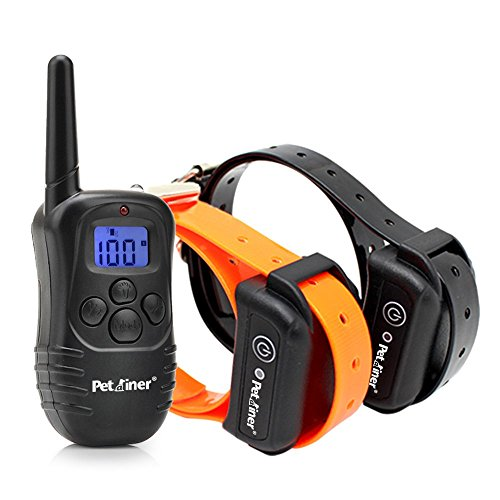 Petrainer IS-PET998DB2 Waterproof Rechargeable  330 Yards Remote Dog Training Shock Collar (Innotek Cat Collar)