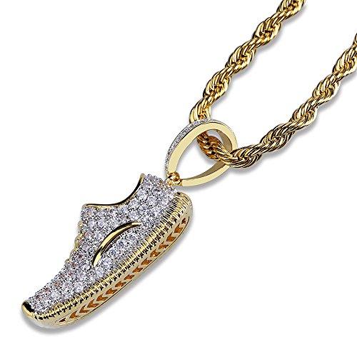 9691bc53faa4 MCSAYS Hip Hop Jewelry - Collar con colgante chapado en oro con zirconia  70% OFF