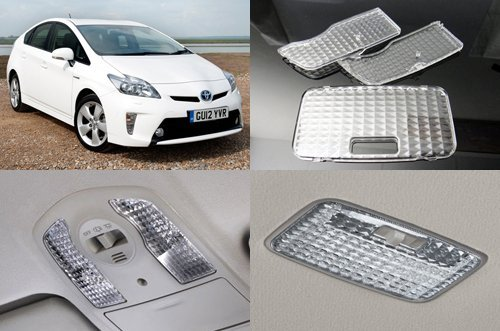 LEDIN Toyota Prius 2010+ JDM ZVW30 Diamond Crystal Clear Interior Dome Map Light Cover