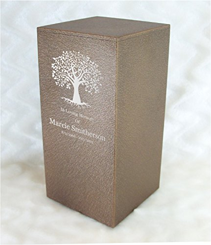 PERSONALIZED Engraved Tree of Life Cremation Urn for Human Ashes -Made in America- Handcrafted in the USA by Amaranthine Urns, Adult Funeral Urn -Eaton DL- up to 200 lbs living weight (Cast Bronze)