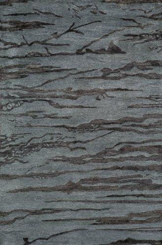 Momeni Slate - Momeni Rugs ZEN00ZEN-2SLT80B0 Zen Collection, Wool & Banana Silk Hand Tufted Contemporary Area Rug, 8' x 11', Slate