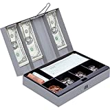 Sparco Combination Lock Cash Box, Steel, 11-1/2 x 7-3/4 x 3-1/4 Inches, Gray (SPR15508)