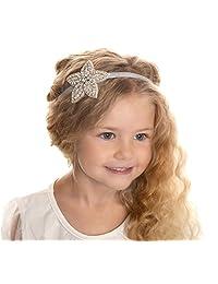 Elastic Crystal Beaded Headband Wedding Bride Flower Girls Hair Tie Hair Band
