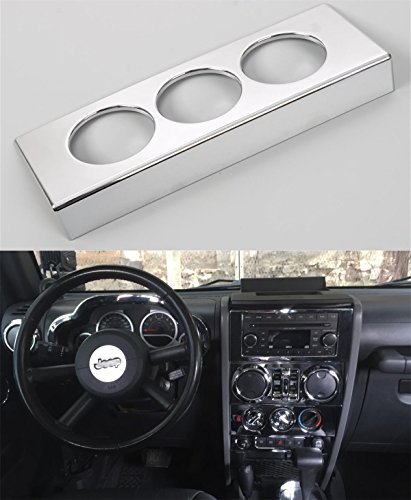 Opar Chrome Silver Air Conditioning Button Trim for 2007 - 2010 Jeep JK Wrangler & Unlimited
