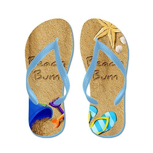 Cafepress Beach Bum - Tongs, Sandales Rigolotes, Sandales De Plage Bleu Des Caraïbes